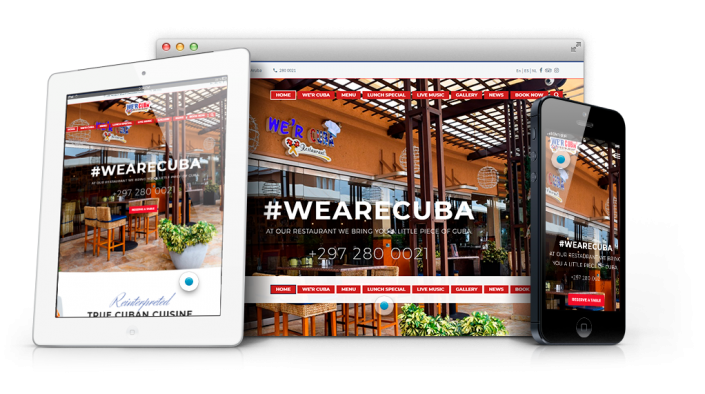 Restaurant Website Design Aruba