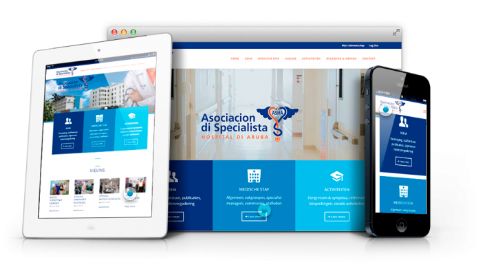 Doctor association website Design portfolio Agency aruba