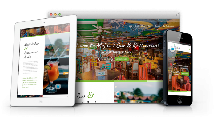 Restaurant bar web design agency aruba